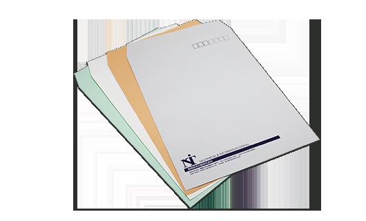 角型2号封筒のサンプル