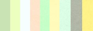 カラー封筒のカラーバリエーションイメージです。