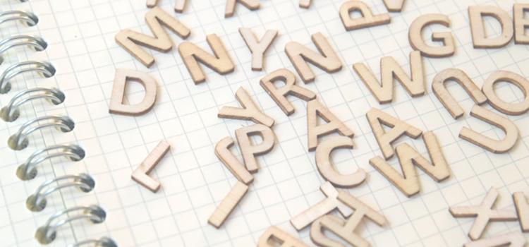 会社名を英語表記するためのアルファベットイメージ画像です。