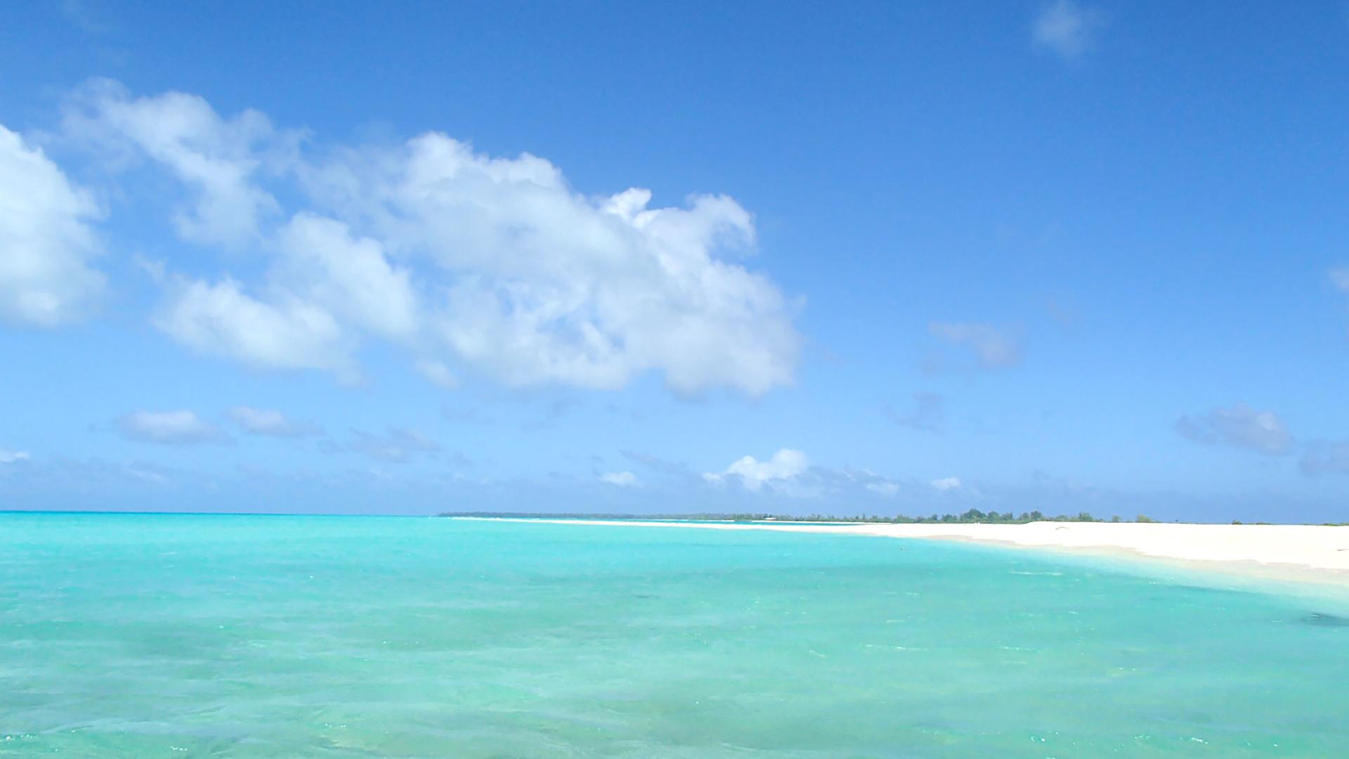「海と空」のバーチャル背景画像です。