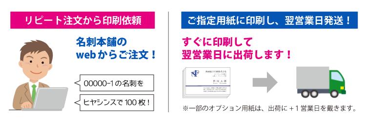 名刺データはいつでも印刷のご注文が可能です。