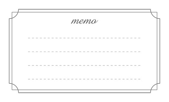 メモ欄デザイン02(モノクロ)