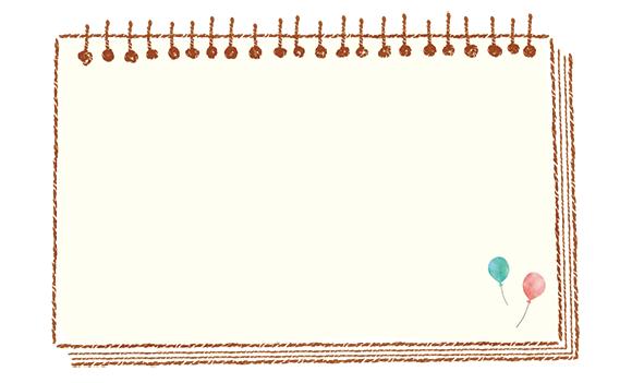 メモ欄デザイン12(カラー)